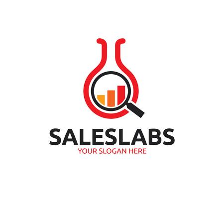 Sales Lab Logo Illustration