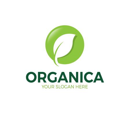 O Letter Leaf Logo Template Ilustração