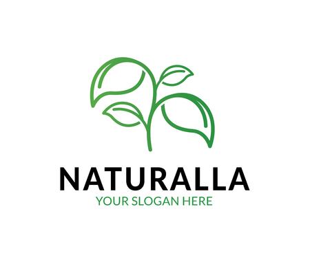 Natural Leaf Logo Template