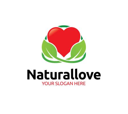 Natural Love Logo Template