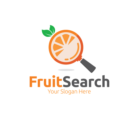 Fruit Search Logo Template