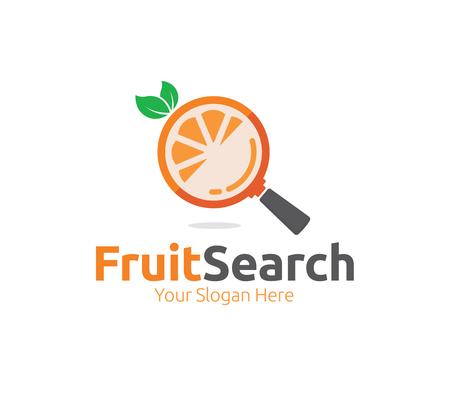 Fruit Search Logo Template