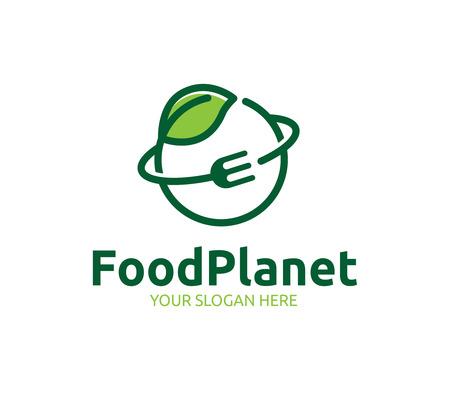 Logo del pianeta alimentare Logo