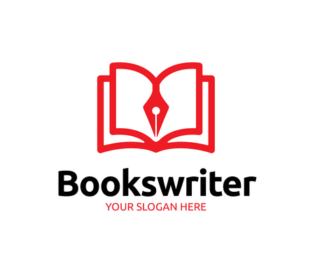 Books Writer Logo Illustration