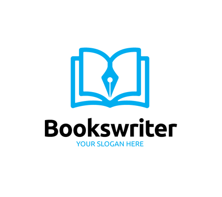 Books Writer Logo Ilustração
