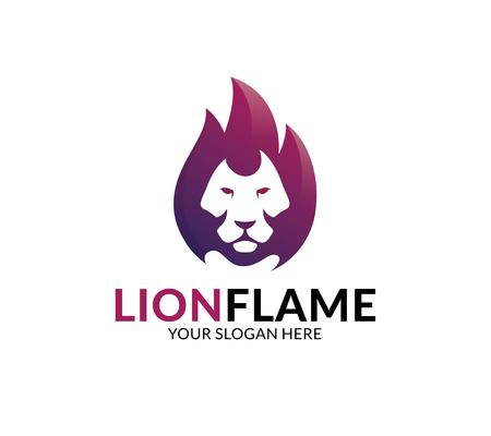 Lion Flame Logo Template