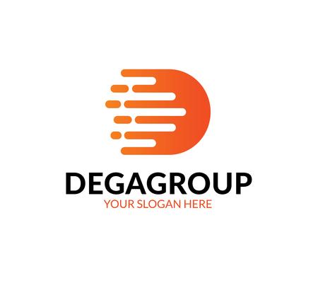 D Letter Logo Ilustração
