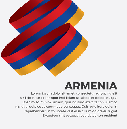 Armenia flag for decorative.Vector background