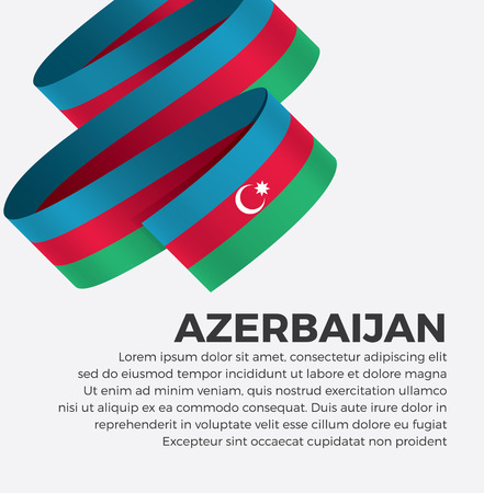 Azerbaijan flag for decorative.Vector background