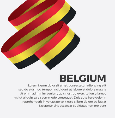 Belgium flag for decorative.Vector background