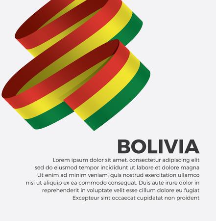 Bolivia flag for decorative.Vector background