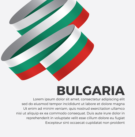 Bulgaria flag for decorative.Vector background 矢量图像