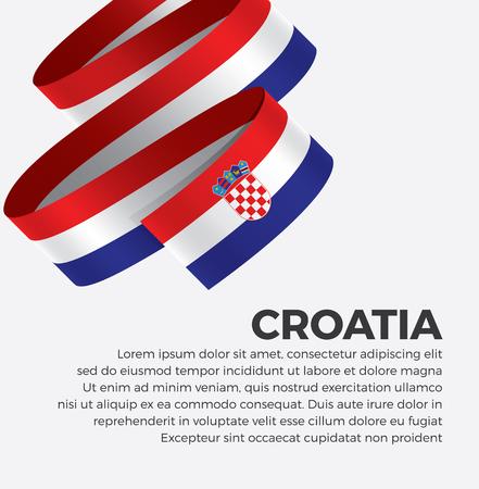 Croatia flag for decorative.Vector background