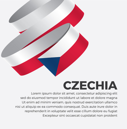 Czechia flag for decorative.Vector background Illustration