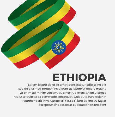 Ethiopia flag for decorative.Vector background
