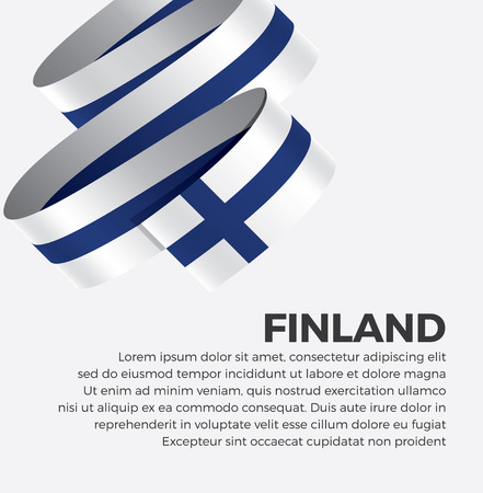 Finland flag for decorative.Vector background Illustration