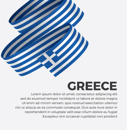 Greece flag for decorative.Vector background