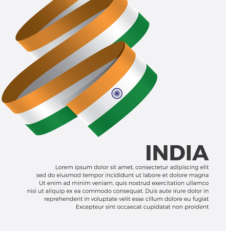 India flag for decorative.Vector background Illustration