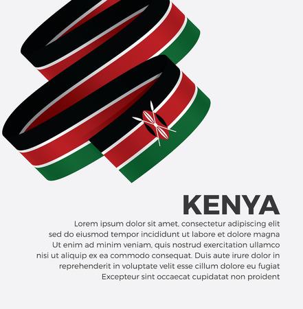 Kenya flag for decorative.Vector background