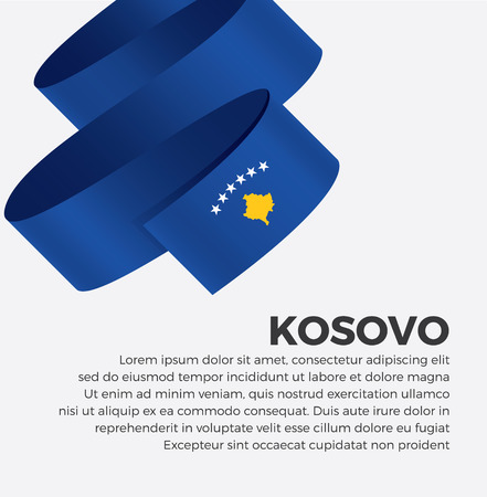 Kosovo flag for decorative.Vector background Illustration