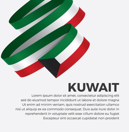 Drapeau du Koweït pour le fond décoratif.Vector Vecteurs