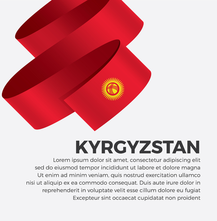 Kyrgyzstan flag for decorative.Vector background