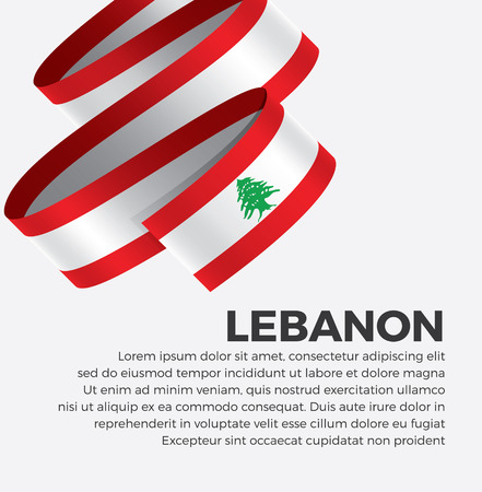 Lebanon flag for decorative.Vector background