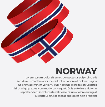 Norway flag for decorative.Vector background 矢量图像