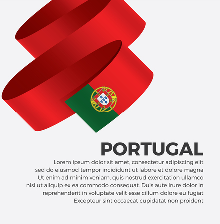 Portugal flag for decorative.Vector background