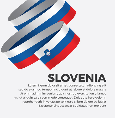 Slovenia flag for decorative.Vector background