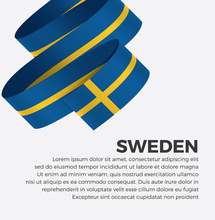 Sweden flag for decorative.Vector background