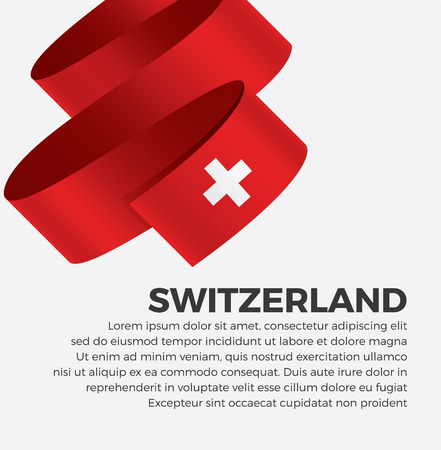 Switzerland flag for decorative.Vector background Illustration