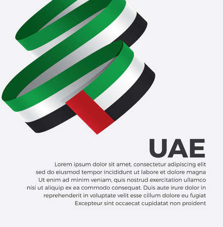 UAE flag for decorative.Vector background