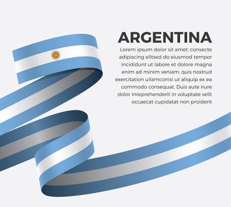 Argentina flag for decorative.Vector background