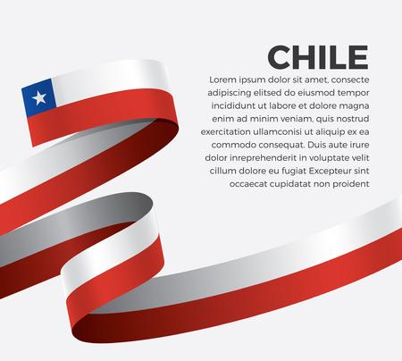 Chile flag for decorative.Vector background Illusztráció
