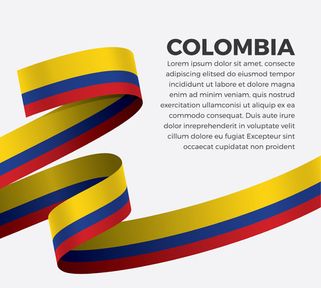 Colombia flag for decorative.Vector background