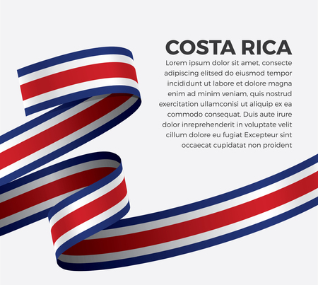 Costa Rica flag for decorative.Vector background