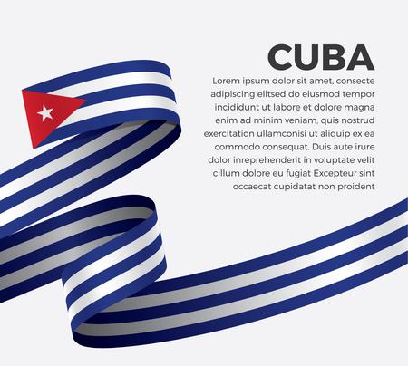 Cuba flag for decorative.Vector background
