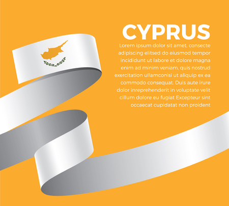 Cyprus flag for decorative.Vector background Stock fotó - 112799072