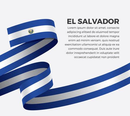 El Salvador flag for decorative.Vector background 矢量图像