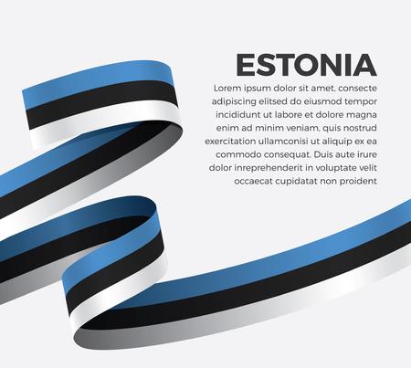 Estonia flag for decorative.Vector background Stock fotó - 112799078