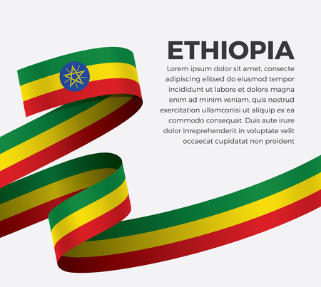 Ethiopia flag for decorative.Vector background Stock fotó - 112799079