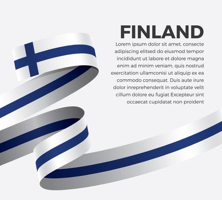 Finland flag for decorative.Vector background Illusztráció