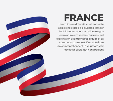 France flag for decorative.Vector background Illustration
