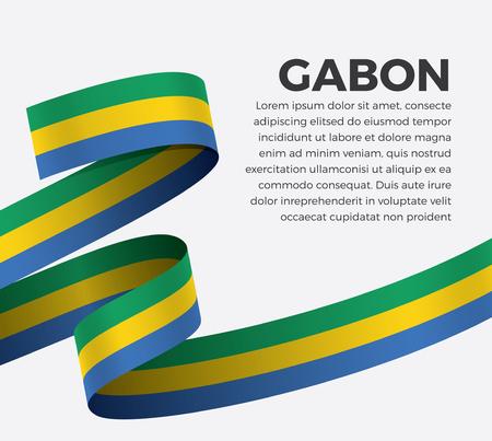 Gabon flag for decorative.Vector background Illusztráció