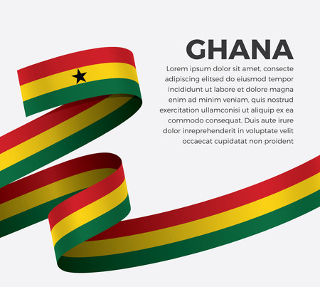 Ghana flag for decorative.Vector background
