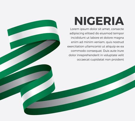 Nigeria flag on a white background