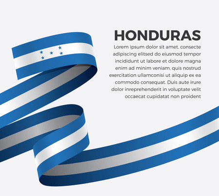 Honduras flag on a white background Stock fotó - 112799087