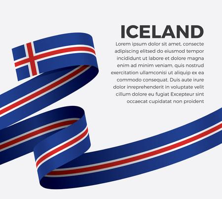 Iceland flag on a white background Illusztráció