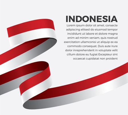 Indonesia flag on a white background